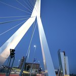 Rotterdams Erasmus bridge.